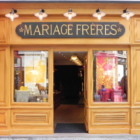 Mariage Frères tea shop in Paris. Montorgueil Tea Emporium
