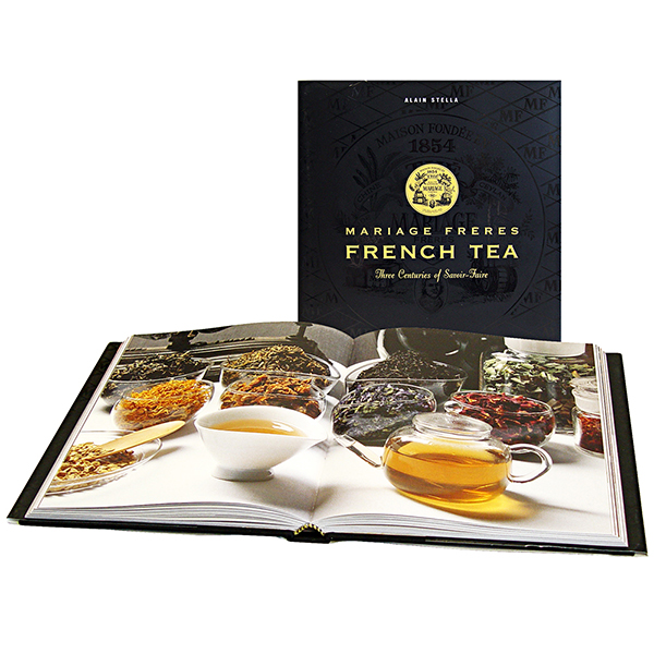 Book about tea with french texts
