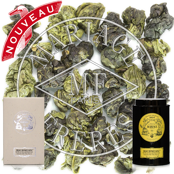 Milky oolong blue tea from China - Fujian and from Formosa - Nantou