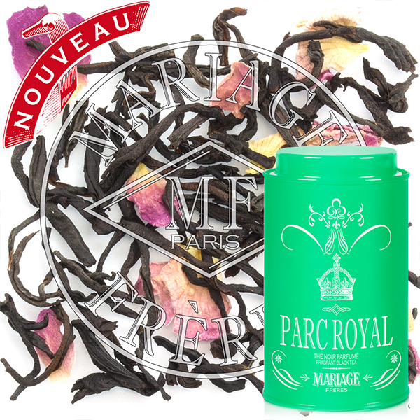 Royal teas : collection of citrus white tea, flowery black tea, green tea with exotic fruits and oolong blue tea with vanilla and bergamot