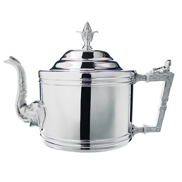 Silver tea Equipment & Paraphernalia : empty canister, tea caddy spoon, tea filter, natsume