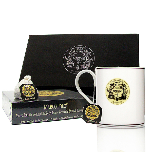 Coffret Tea Break : thé en mousseline de coton et un mug