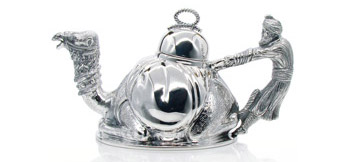 Silver 925 teapot and silver or gold plated teapots