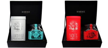 Connoisseur : a gift set with a white or a black tea and a jelly