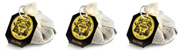 French tea bags in round cotton muslin sachets