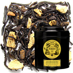 Alexandra David Neel in Icône black canister : black tea spiced with clove, pepper, ginger, cinnamon and cardamom