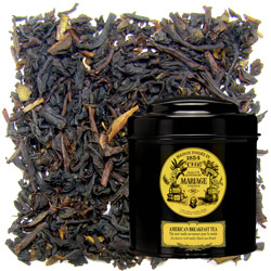 American Breakfast tea in Icône black canister : black tea with chocolate and caramel notes