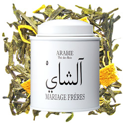 ARABIA - Thé des Rois : mint green tea with citrus and flower from Les Calligraphies du Thé tea collection