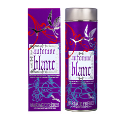 Automne Blanc : white tea flavoured with litchi, pomegranate and quince