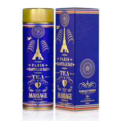 Bastille Day : oolong blue tea from Thé Parisien ( Parisian tea ) tea collection