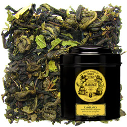 Casablanca in Icône black canister : black tea and green tea with mint and bergamot
