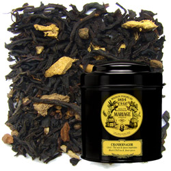 Chandernagor in Icône black canister : Chaï black tea spiced with cloves, cinnamon, ginger, cardamom and pepper
