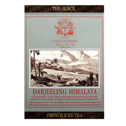 Darjeeling Himalaya : Ice black tea noble and precious from French Iced Tea collection. Individual tea bag easy to cold brew