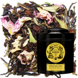 Darjeeling Rose Camelia in Icône black canister : Darjeeling black tea blend with rose petals