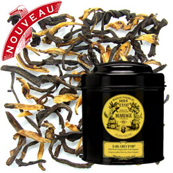 Earl Grey D'Or in Icône black canister :  Assam black tea with bergamot