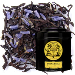 Earl Grey Provence in Icône black canister : black tea with bergamot and lavender