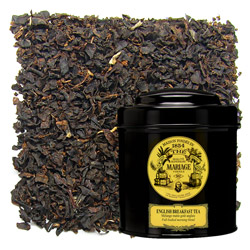 English Breakfast tea in Icône black canister : British black tea blend for morning