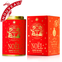 Esprit de Noël ( Christmas Spirit ) : Christmas black tea flavoured with sweet spices from Happy Noël tea collection