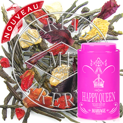 Happy Queen : Citrus green tea with flowers and exotic fruits from Thé des Rois tea collection