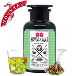 Hawaii : Kawaii : Ice organic green tea with hibiscus flowers, notes of pineapple and red berries. A tea easy to cold brew