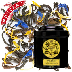 Imperial Russia in Icône black canister : Darjeeling black tea flavoured with citrus, Russian taste