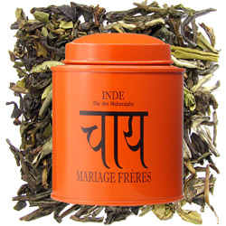 INDIA - Thé des Maharajahs : citrus black tea with patisserie notes from Les Calligraphies du Thé tea collection