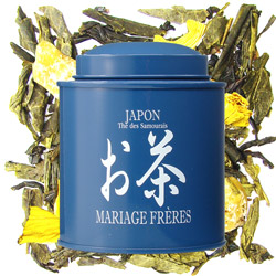 JAPAN - Thé des Samouraïs : citrus green tea with vanilla and exotic fruits from Les Calligraphies du Thé tea collection