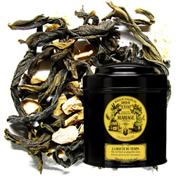 La Route Du Temps - The Path of Time in Icône black canister : green tea with ginger