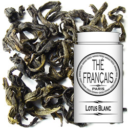 Lotus Blanc : Vietnamese and lotus stamen flavoured green tea from Precious Tea collection
