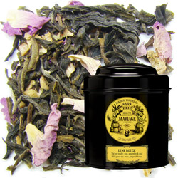 Lune Rouge - Red Moon in Icône black canister : ginger green tea with rose and honey notes
