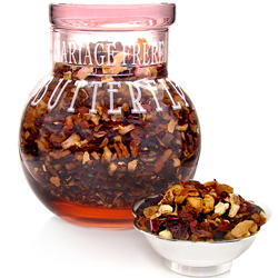 Madame Butterfly : fruit tea packed in rose glass ball jar