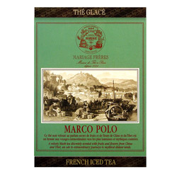 Marco Polo : Ice black tea flavored with fruity and flowery notes from French Iced Tea collection. Individual tea bag easy to cold brew