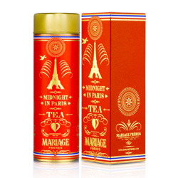 Midnight In Paris : rooibos red tea from Thé Parisien ( Parisian tea ) tea collection