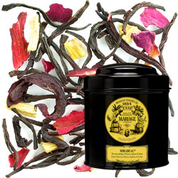 Mirabeau in Icône black canister : black tea with hibiscus, lychee and liquorice
