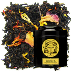Montagne D'Or - Golden Moutain in Icône black canister : Chinese black tea with fruits from the Golden Triangle