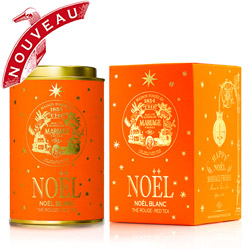 Noël Blanc : Christmas rooibos red tea with fruit and mild spices from Happy Noël tea collection