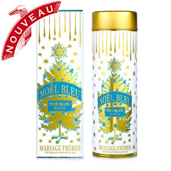 Noel Bleu : organic Christmas oolong tea with cinnamon, vanilla and orange peel