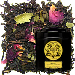 Oriental in Icône black canister : black tea flavoured with jasmine, rose and mandarin