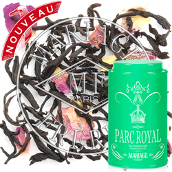 Parc Royal : a black tea flavoured with flowers from Thé des Rois tea collection
