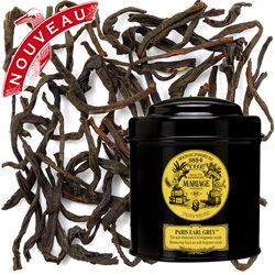 Paris Earl Grey in Icône black canister : bergamot organic black tea