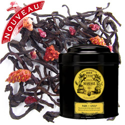 Paris Ginza in Icône black canister : black tea with caramel and red fruits