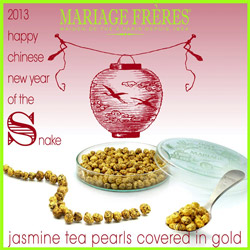 Perles d'Or : Jasmine green tea pearls and gold