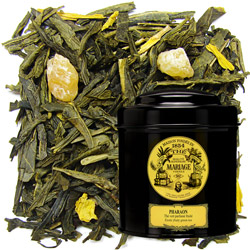 Pharaon - Pharaoh in Icône black canister : green tea with candied mango and pineaple
