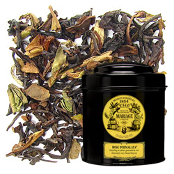 Rose D'Himalaya in Icône black canister : organic Darjeeling black tea