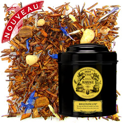 Rouge Pleine Lune in Icône black canister : almond rooibos spiced with cloves and with a honey note