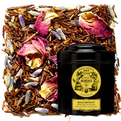 Rouge Provence in Icône black canister : rooibos with lavender and rose petals