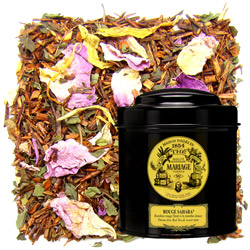 Rouge Sahara in Icône black canister : mint rooibos with rose petals