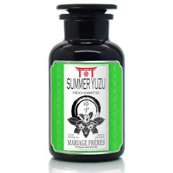 Summer Yuzu : Thé vert glacé au yuzu, un agrume japonais, de la collection French Summer Tea. Thé facile à infuser à froid