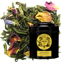 Sweet Shangaï in Icône black canister : flowery green tea with exotic fruit