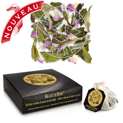 Blanc & Rose tea bags : white tea blend with rosebuds